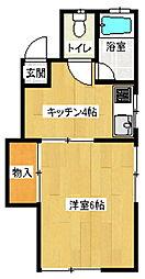 コーポラスチュチュ A棟[2階]の間取り