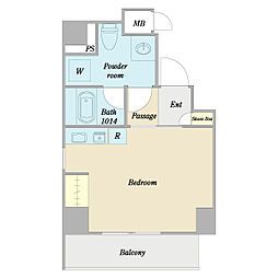 JR総武線 亀戸駅 徒歩5分の賃貸マンション 3階ワンルームの間取り