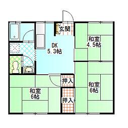 コーポ富士道[103号室]の間取り