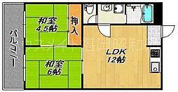 ラゴラ神屋[6階]の間取り
