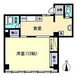中山ビル[4階]の間取り