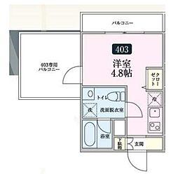Kamiken西池袋マンション[4階]の間取り