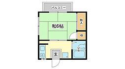 京口アパート[1階]の間取り