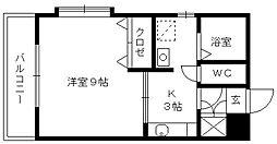 福岡県久留米市荒木町白口の賃貸アパートの間取り