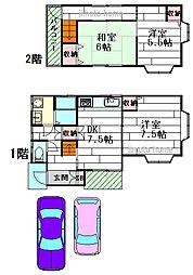 [一戸建] 大阪府茨木市宇野辺2丁目 の賃貸【/】の間取り