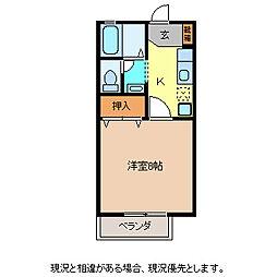 リバーサイド裾花[1階]の間取り