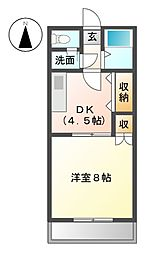 愛知県名古屋市緑区平手北1丁目の賃貸マンションの間取り