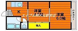 楓コーポ[2階]の間取り