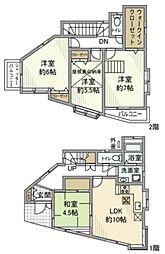 [一戸建] 神奈川県横浜市神奈川区三ツ沢南町 の賃貸【/】の間取り