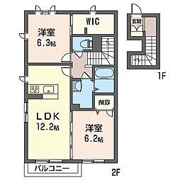 コリーナガーデン[2階]の間取り