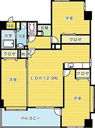 NEW SUN RIVER 13番館(ニューサンリバー13番[11階]の間取り