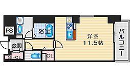 LIBRATAKATSUKI(リブラタカツキ) 5階ワンルームの間取り