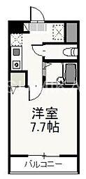 岡山県岡山市北区奉還町1丁目の賃貸マンションの間取り