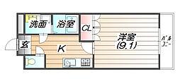 昴[1階]の間取り