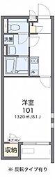小田急小田原線 本厚木駅 バス25分 依知小学校前下車 徒歩7分の賃貸アパート 1階1Kの間取り