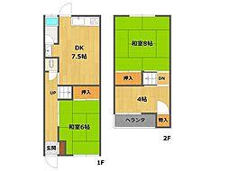 小福荘[2号室]の間取り