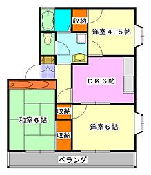 千葉県船橋市二和西4の賃貸アパートの間取り
