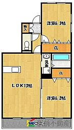 ステラ羽犬塚A棟[1階]の間取り