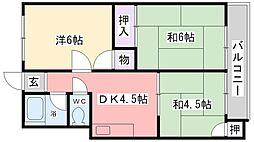 芳栄ハイツ[205号室]の間取り