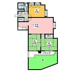 サンシティ小幡[1階]の間取り