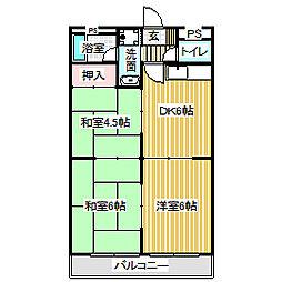 愛知県名古屋市中川区長良町3丁目の賃貸マンションの間取り