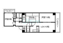 グランドビル21[7階]の間取り