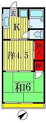コーポスギヨシ[2階]の間取り