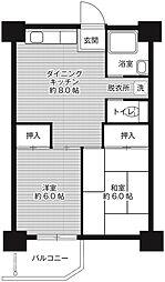 ビレッジハウス泉北栂タワー[2階]の間取り