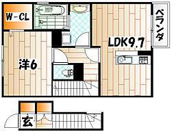 ベルクフェルト[2階]の間取り