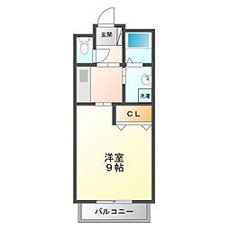 プラシード和坂[1階]の間取り