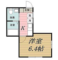 千葉県千葉市若葉区都賀2丁目の賃貸アパートの間取り