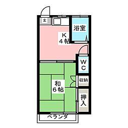 コーポ若草[2階]の間取り