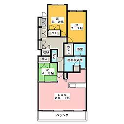 プライムメゾン富士見台[2階]の間取り