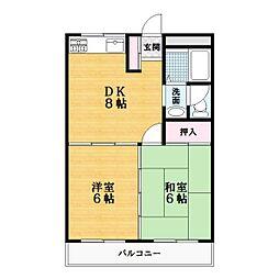 グリーンハイツ阪本[4階]の間取り