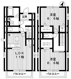 東京都練馬区土支田4丁目の賃貸アパートの間取り