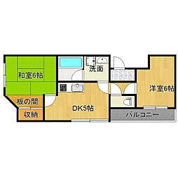 大阪府大阪市生野区新今里5丁目の賃貸マンションの間取り