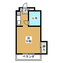 Chez moi三番丁[2階]の間取り