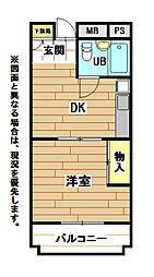 プリモレガーロ金鶏[3階]の間取り