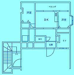 フォンターナ宮前平[4階]の間取り