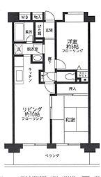 埼玉県さいたま市浦和区針ケ谷1丁目の賃貸マンションの間取り