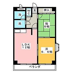 プリベールハイム[1階]の間取り