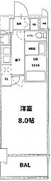 S-RESIDENCE錦糸町パークサイド[4階]の間取り