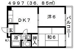 ファミティ弐番館[605号室号室]の間取り