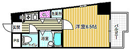 プレサンス梅田西[4階]の間取り