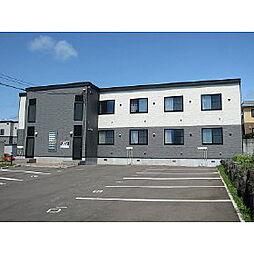 北海道室蘭市八丁平3丁目の賃貸アパートの外観