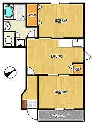 プライムコート[1階]の間取り
