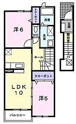 フィオーレ.K[2階]の間取り