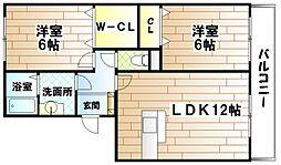 セジュール壱号館[3階]の間取り