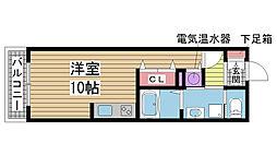 S-FORT神戸神楽町[911号室]の間取り