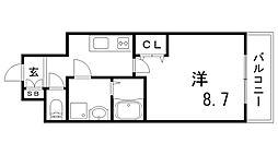 兵庫県神戸市兵庫区西出町の賃貸マンションの間取り